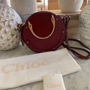Authentic Chloe small pixie bag.  Burgundy